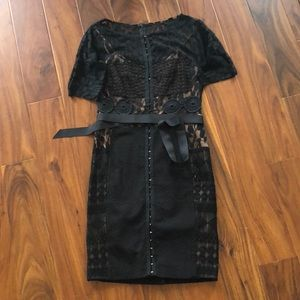 Black lace fitted dress from Anthropologie size 6